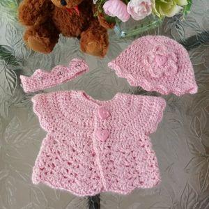 Handmade baby set of 3.